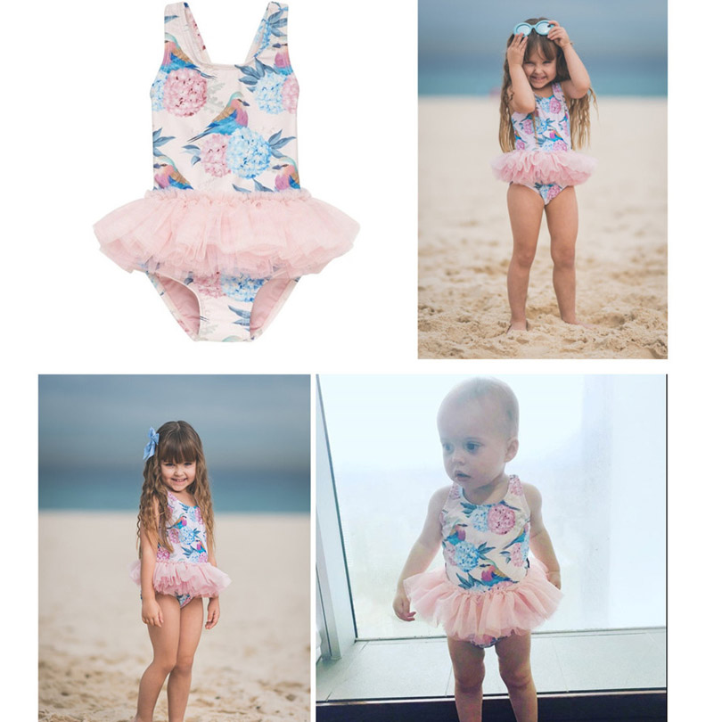 9010c155a0c8b 1 6Y baby swimwear puppy/dog/flower design tutu ruffles lace beach pool  bikini lovely princess style kids/child swimming clothes-in Clothing Sets  from ...