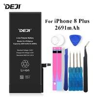 Deji Battery For iPhone 8 Plus 8Plus 8P Apple iPhone8 Plus Li polymer Bateria 2691mAh+Tools For Apple iPhone 8 Plus 8P Batteries