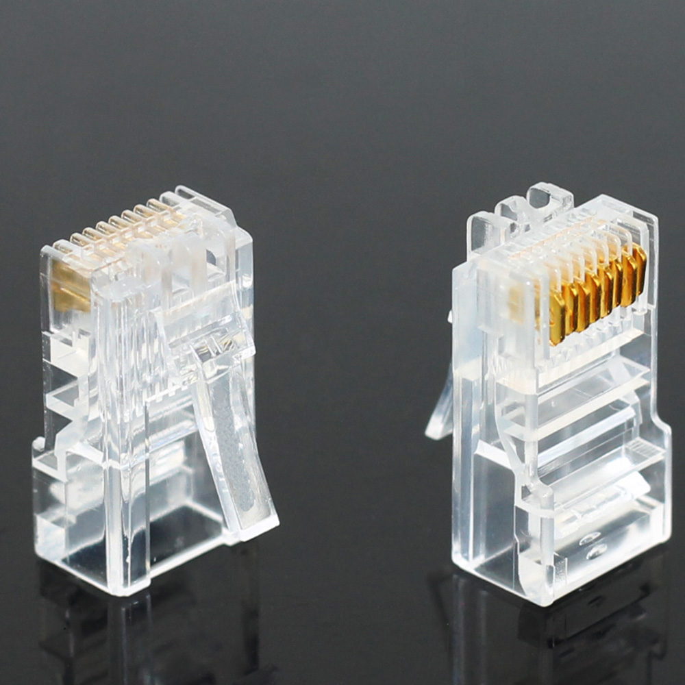 Image 2 - 20/50/100PCS Cat6 Cat6e RJ45 Ethernet Cables Module Plug Network Connector RJ 45 Crystal Heads Gold Plated Network Cable JONSNOW-in Computer Cables & Connectors from Computer & Office