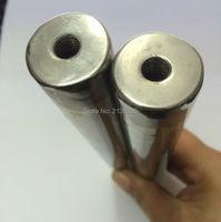 5 шт. D32 * 650 мм 12000 Гаусс сильный Неодимовый магнитный брусок для удаления железного материала с двумя внутренними отверстиями для винтов