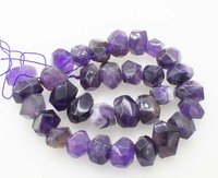 loose beads Amethyst baroque faceted 15*20mm 15 unique shape for DIY jewelry making FPPJ wholesale beads nature gem stone