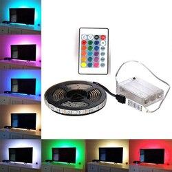 Bande LED RGB étanche 5050 5V bandes de lumière LED ruban LED Flexible 0.5m 1m 2m TV rétro-éclairage armoire lumière + télécommande
