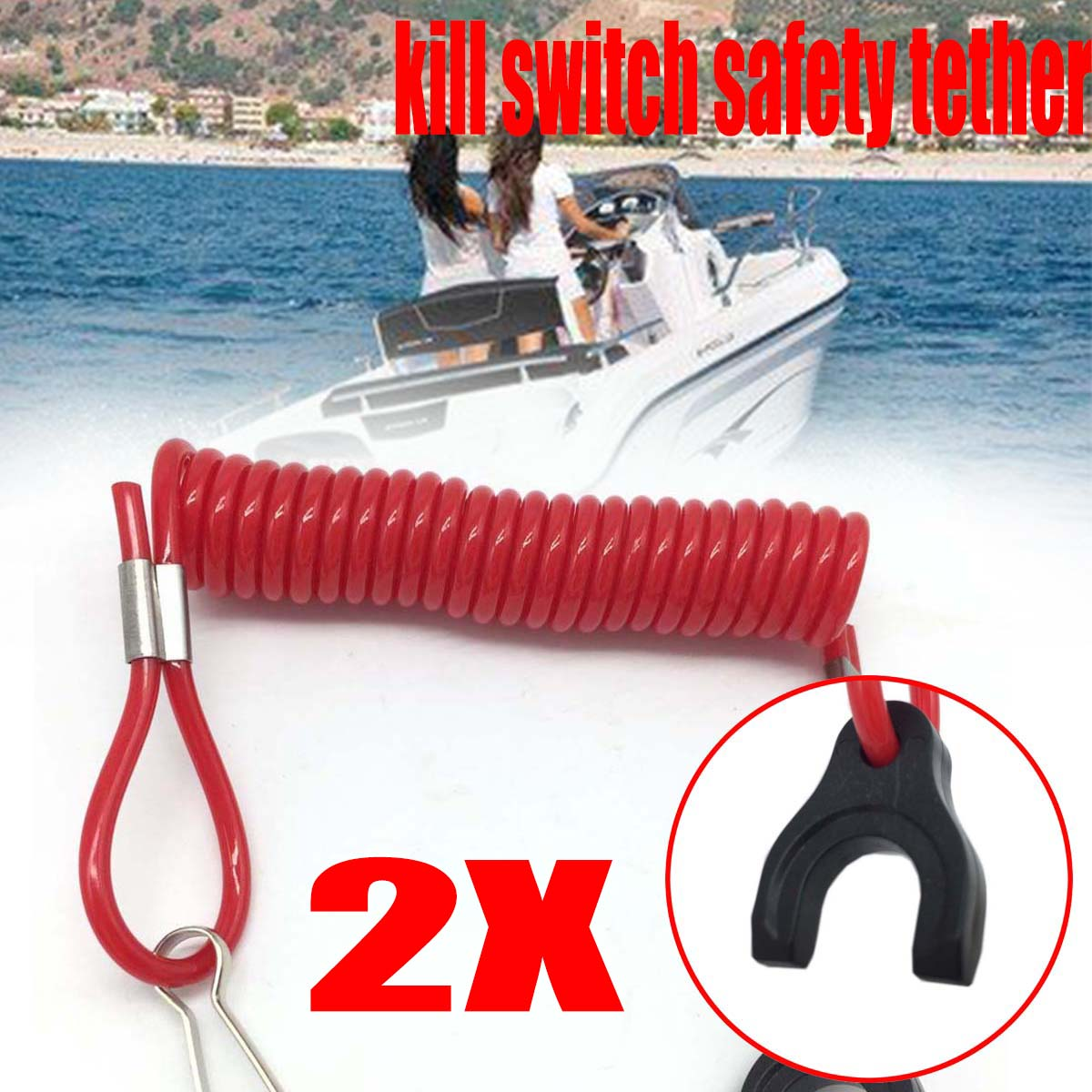 Automobiles & Motorcycles Electrical System 2x Safety Tether Kill Switch For Mariner For Mercury Tohatsu Motorboat Marine Lanyard Outboards Engine Kill Cord Switch Key Rope