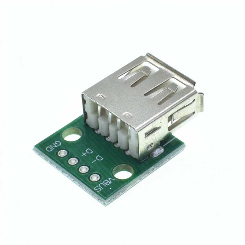 5pcs Type A Female USB To DIP 2.54mm PCB Connector Female USB PCB Board Connector USB PCB Socket USB Connector