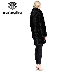 Image 4 - אמיתי פרווה מעיל נשים בתוספת גודל טבעי מינק פרווה מעיל עם ברדס נשי ארוך אמיתי מינק מעילי גבירותיי וינטג Oversize בגדים