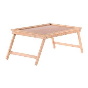 Image 2 - Multifunktions Tragbare Bambus Bett Laptop Schreibtisch Faltbare Portion Tisch wohnzimmer tisch für Tee Studie Frühstück