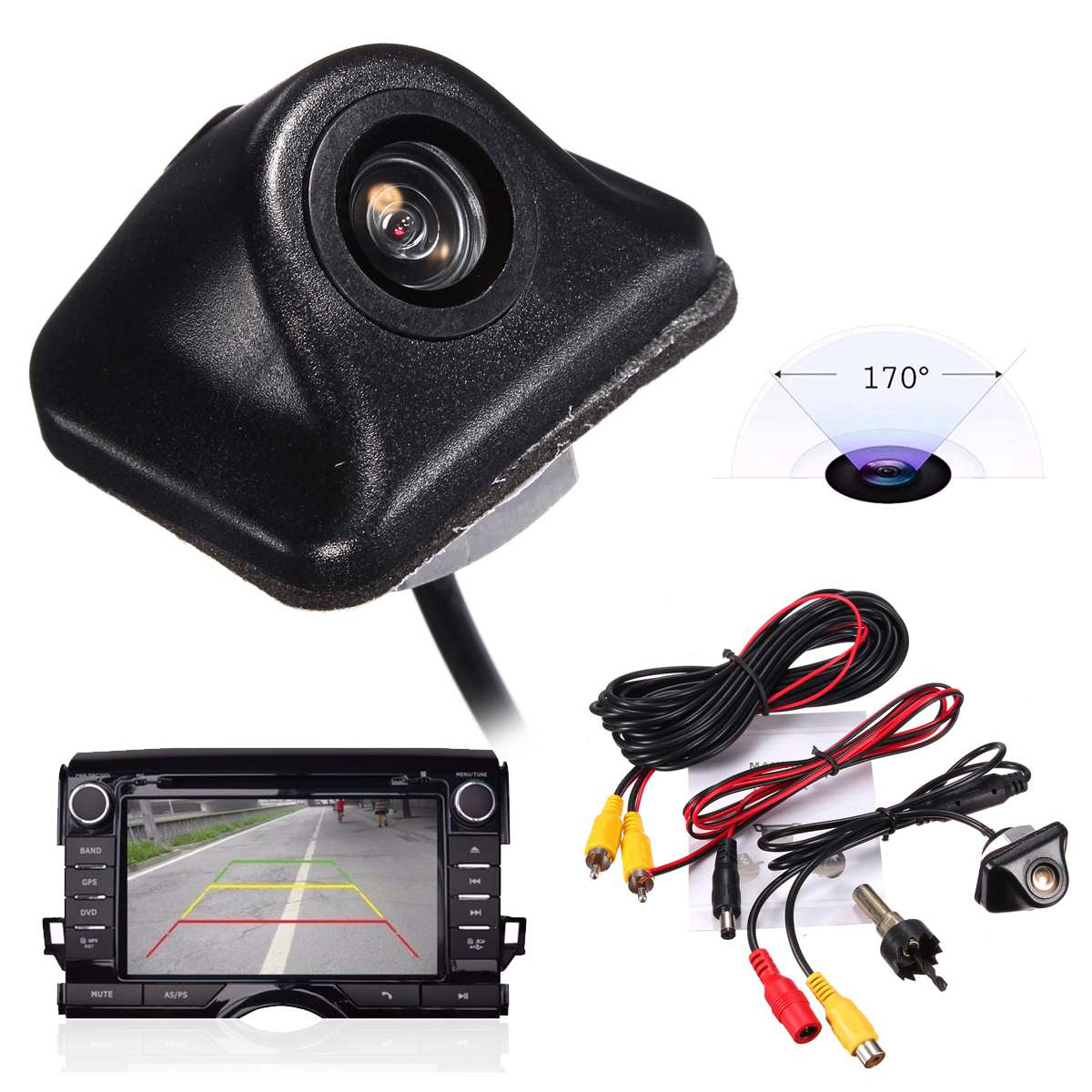 Universal HD Car Rearview Camera Back Up 170 Degree Backup Parking Reverse Camera For Monitor GPS Rear View Camera Waterproof