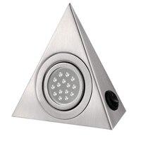 Новейший светодиодный светильник для шкафа, кухонный светильник под шкаф, треугольный светодиодный светильник из нержавеющей стали для шк...