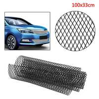 100x30cm Auto Car Universal Aluminum Alloy Car Front Bumper Mesh Grill Grille Cover Car Vehicle Black Body Grille Net Protector