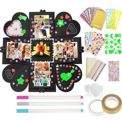 Secret Photo Album Surprise Love Explosion Box Gift Explosion For Anniversary Scrapbook DIY Photo Album Party Birthday Gift