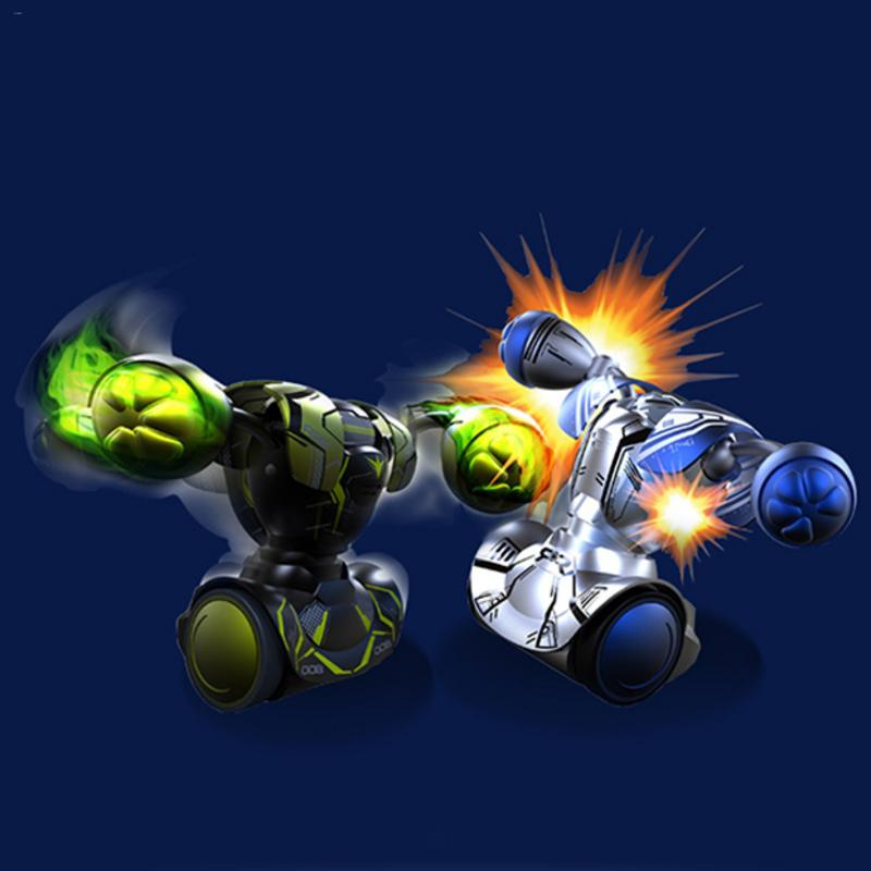 RC Robot Combat De Boxe Combats Double Jouer Robot Enfants Intelligente Télécommande Garçon Jouet RC Bataille De Boxe Robot Jouet Garçon cadeau
