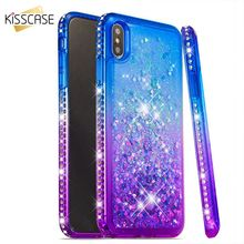 KISSCASE Fantastic Diamond Cases For iPhone 7 8 6 6s plus x Gradient Quicksand Phone bag X XR XS MAX Cover