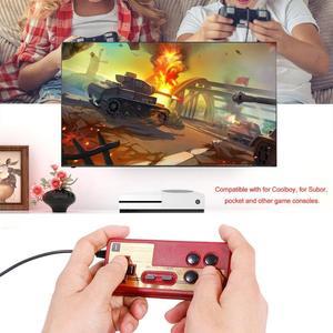 Image 4 - חם Wired 8 קצת טלוויזיה אדום ולבן מכונת משחק וידאו נגן ידית Gampad בקר עבור Coolboy עבור Subor עבור NES משחק משחק