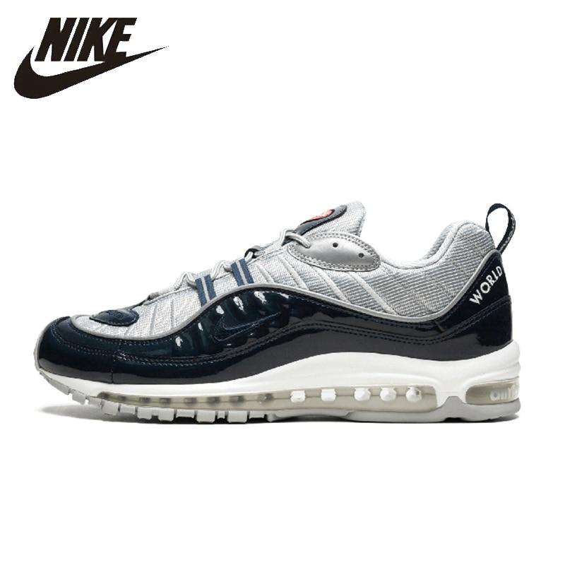 17cebfbf Оригинальный Nike Air Max 98 Мужская обувь для бега дышащий анти-скользкий  спортивная обувь для
