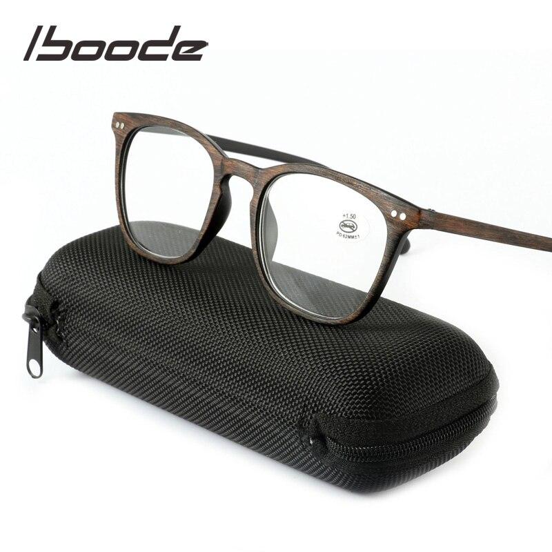 1,0 1,5 2,0 2,5 3,0 3.54.0 Iboode Retro Reasung Gläser Frauen Männer Holzmaserung Schwarz Brille Lesen Auge Rezept Damenbrillen