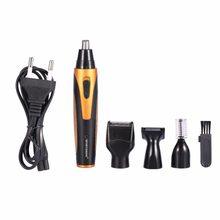 Elétrica Nariz Aparador de Ouvido Templo Cabelo Clipper Barbear Barba Shaver For Men 4 Em 1 Máquina Aparador de nariz