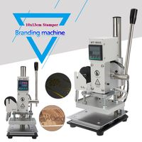 Electric Embosser Hot Foil Stamping Logo Label Digital Display+Bronzing Leather Embossing with Holder 10x13cm Stamping Machine