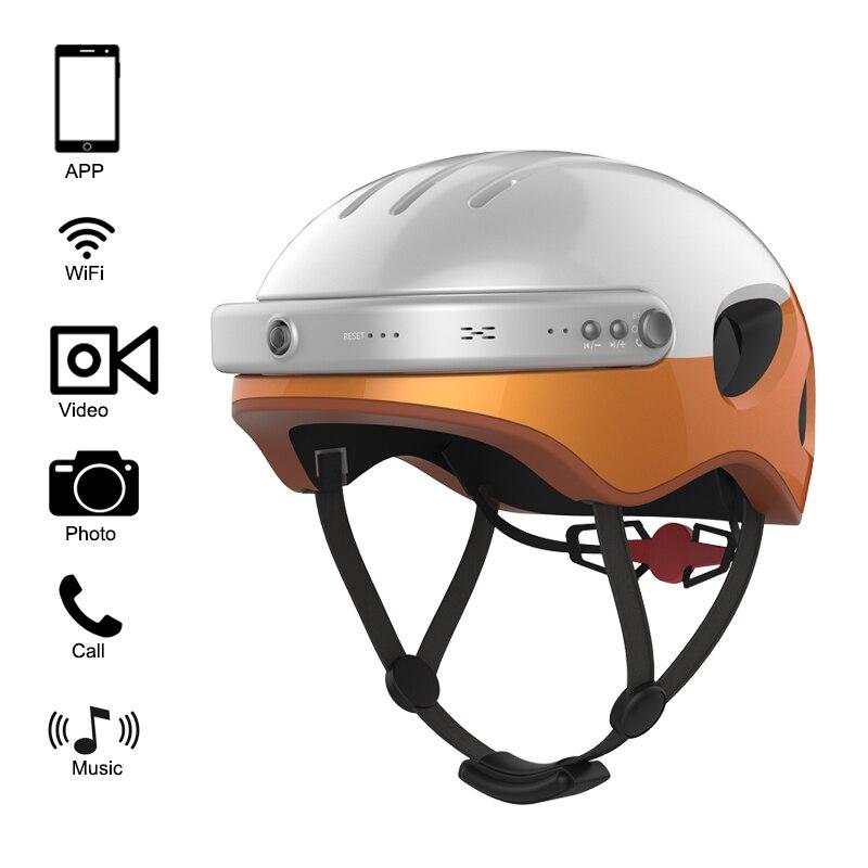 Airwheel C5 HD Sport Action Camera Helmet Bluetooth Wifi APP Smart Bike Security Helmet Cameras Carbon