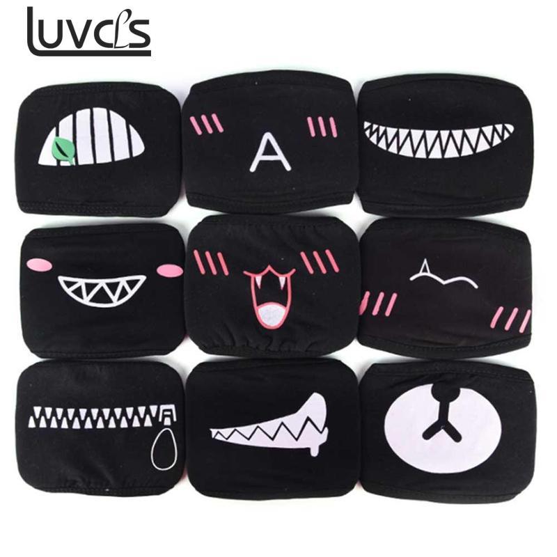LUVCLS  Women Cotton Mouth Dust Mask Masque Cartoon Unisex Kpop Black Bear Cycling Anti-dust Cotton Facial Mouth Face Dust Mask