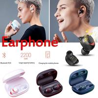 Havit binaural wireless Bluetooth headset 5.0 Sports Mini invisible Ear stereo Earbuds Waterproof with 2200mAh Rechargeable Box