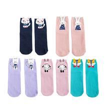 1 Pair Spring Autumn Women Cotton Socks Art Funny Comfortable Fashion Creative Kawaii Various Colors