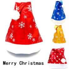 3 Colors Christmas Cap Thick Ultra Soft Plush Santa Claus Holiday Fancy Dress Hat 2019 Women Ladies Girls Xmas Gift Party New(China)