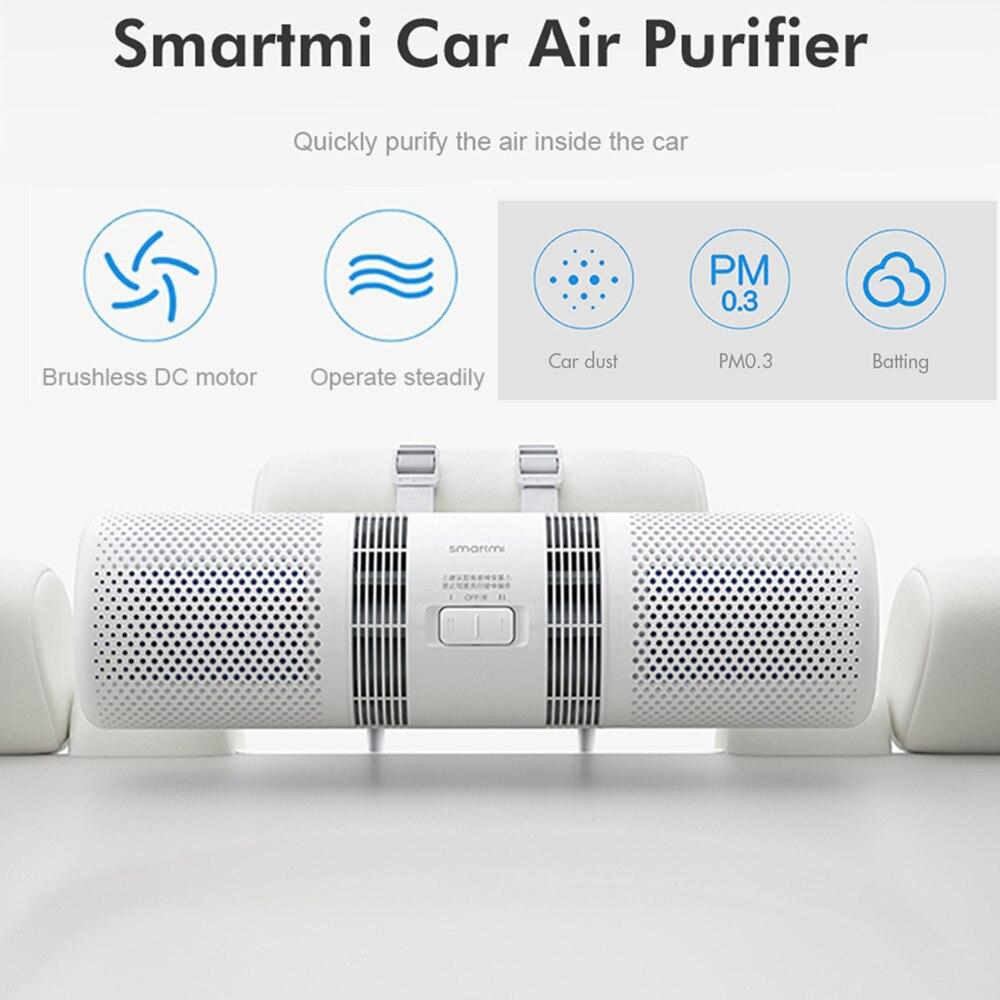 Xiaomi Smartmi Car Air Purifier Air Cleaner Freshener Health Humidifier 70m3/H Purifying PM 2.5 Detector Purifier Double Filter