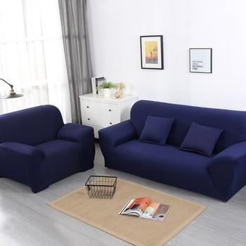 Cubierta de sofá 1/2/3/4 plazas elástico universal sofá cubre color puro spandex sofá cubre Multicolor opcional envío gratis
