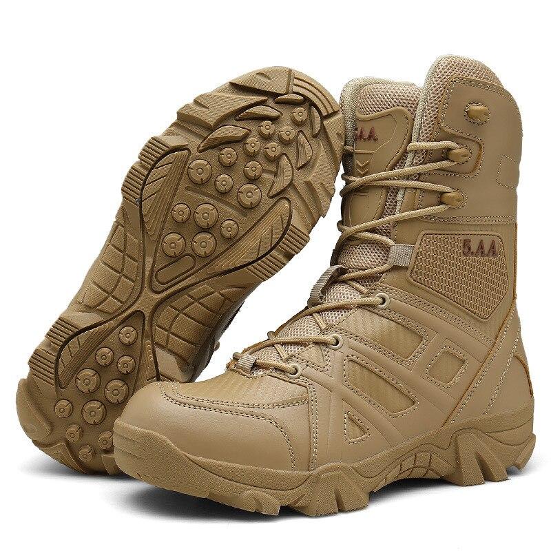 Supérieure Top Grande Daim Tactique Beige High Militaire En Taille Antidérapant L'armée Printemps Qualité Hommes Mn Chaussures Bottines black De Automne byIf6gvY7