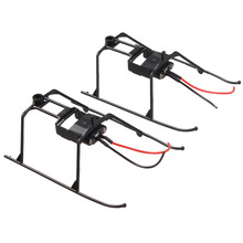 лучшая цена 2x Landing Skid with Wire for WLtoys V911 4CH RC Helicopter Undercarriage   YJS Dropship