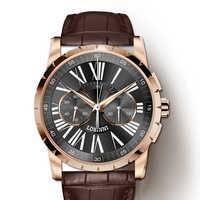 Switzerland LOBINNI Men Watches Luxury Brand Venus Chronograph Manual Mechanical Men's Clock Sapphire relogio masculino L16011-4