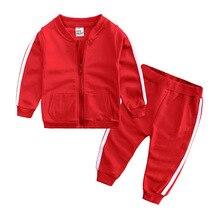 Платье для маленьких девочек Одежда для мальчиков модные комплекты одежды в полоску, наряд костюм детская одежда набор костюм куртка с длинными рукавами+ брюки красного, серого, желтого, розового цвета