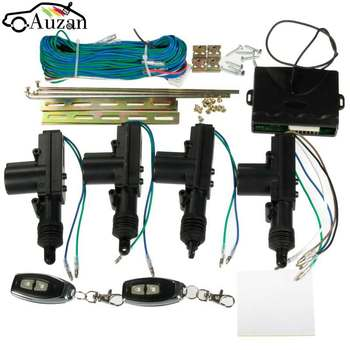 Универсальный Atuo автомобильный 2 двери или 4 двери Центральный замок без ключа система ввода комплект + 2 дистанционного ключа Fob
