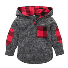 VTOM Baby Hoodies & Sweatshirts Baby Kids Boys Girls Hooded Long-sleeved T-Shirt Kids Sweatshirt Autumn New Baby Clothes(China)