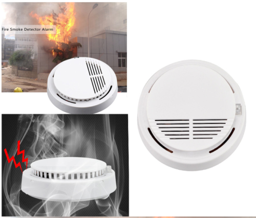 1PCS Mini Smoke Detector Alarm 9V Battery Backup Photoelectric Interconnect