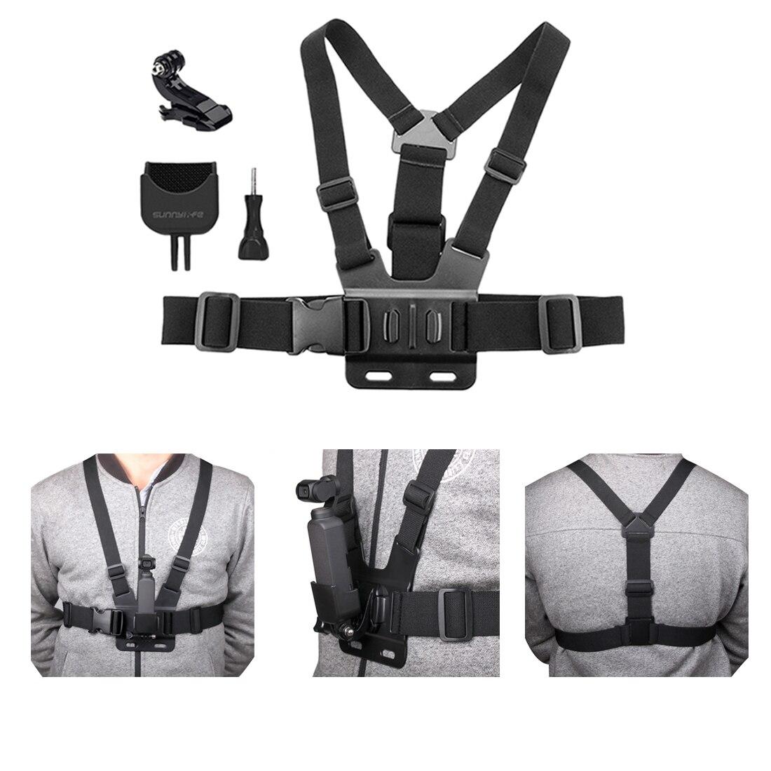 Adjustable Chest Strap Cycling Body Mount Bundle Kit  Adapter for DJI OSMO POCKET GoPro HERO6 / 4/5 Session /HERO5 black