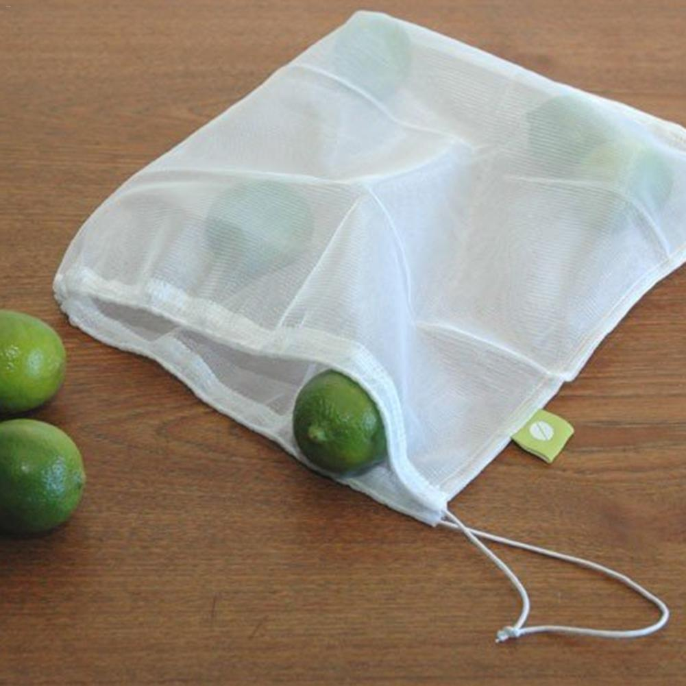 Image 5 - 5 Packs Mesh Bag Vegetable And Fruit Net Bag Polyester Mesh Splicing Mesh Bag Reusable Kitchen Storage Products Organizer-in Bags & Baskets from Home & Garden