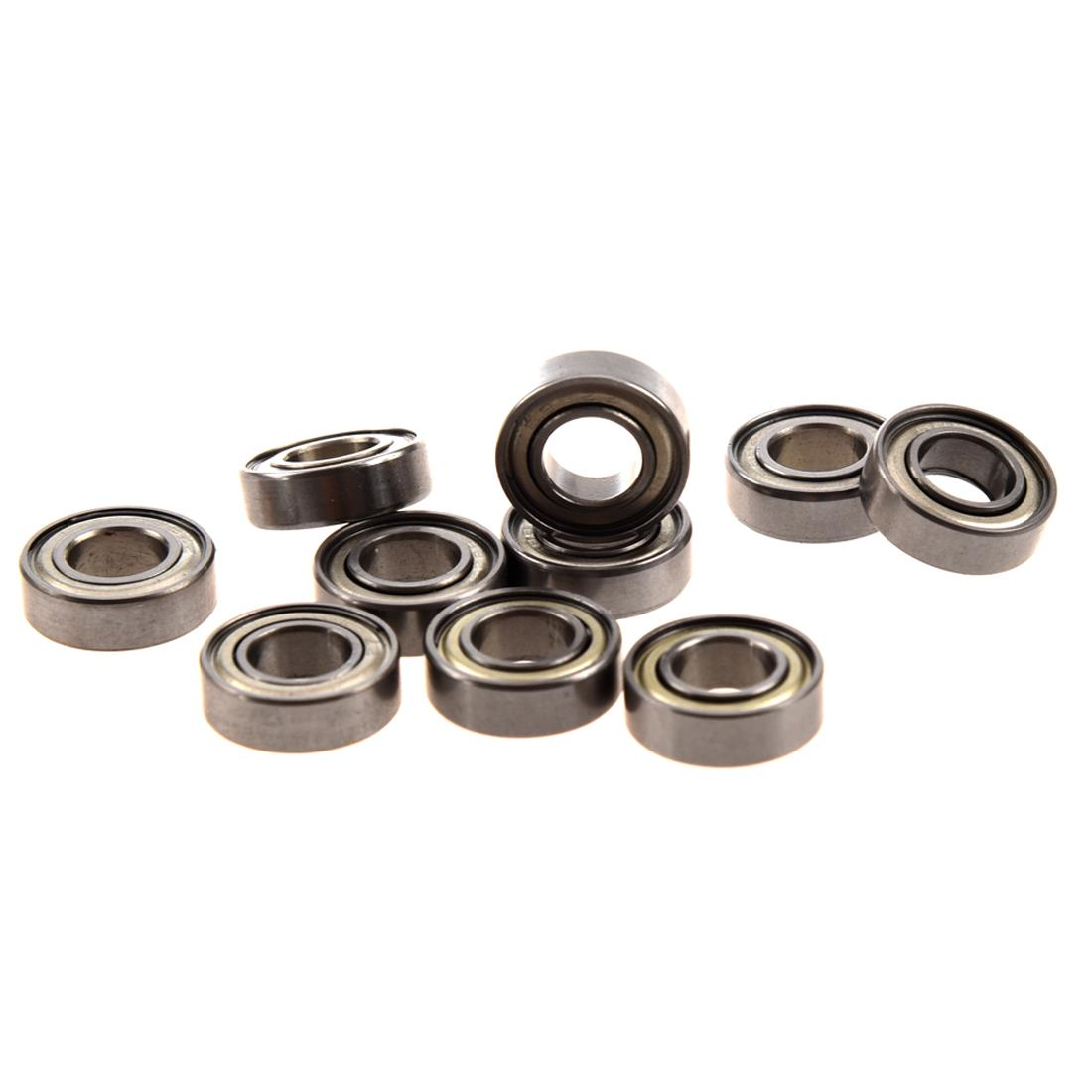 New-10 Pcs 698Z 8 x 19 x6mm Single Row Sealed Deep Groove Ball Bearings image