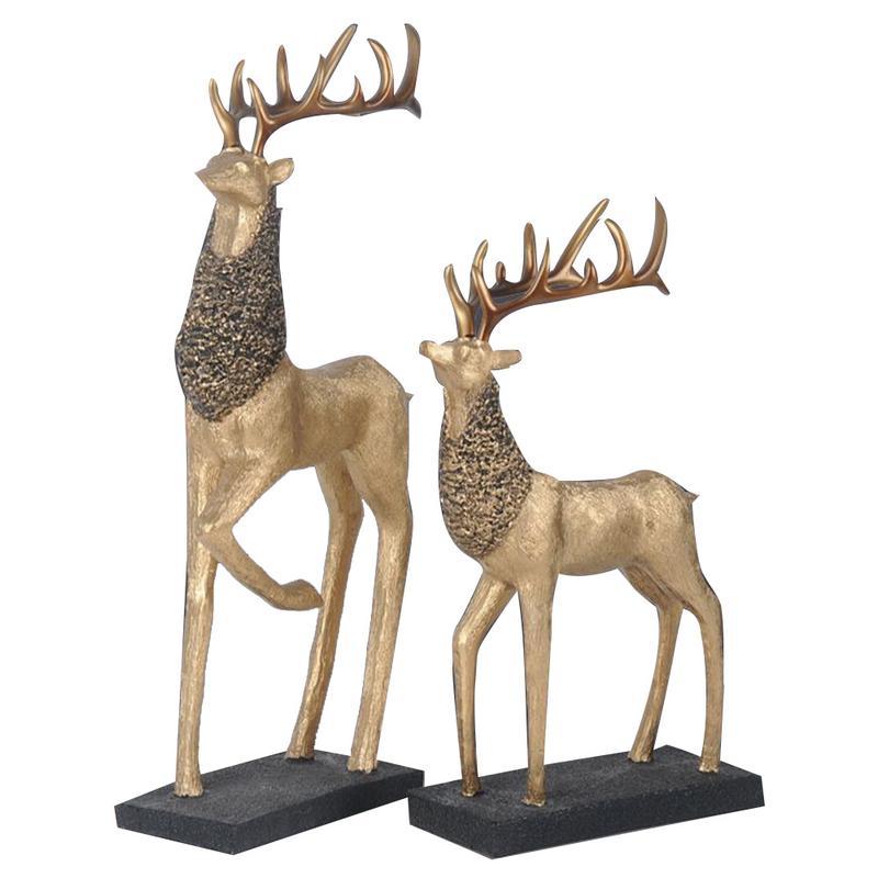 2 pièces par ensemble amant Couple cerf décoration ornement pour salon armoire innovant Style européen meuble TV pour chambre