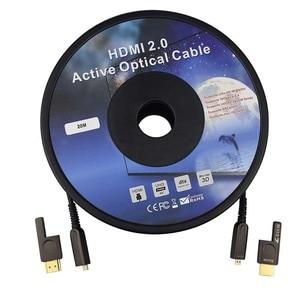 Image 5 - HDMI & Micro HDMI Detachable Optical Fiber HDMI Cable HDMI 2.0 4K 60Hz 10m 20m 30m 50m 100m for HDR TV LCD Projector Laptop PS4
