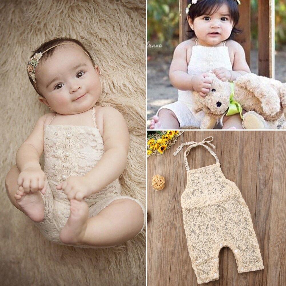 Bodys & Einteiler Qualifiziert Pudcoco Mädchen Overalls 0-24 M Neugeborenen Entzückende Kleinkind Baby Mädchen Spitze Perle Strampler Overall Outfit Kleidung Up-To-Date-Styling