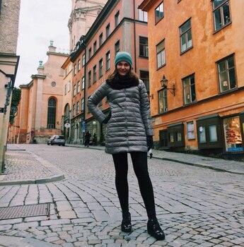 Woman Spring Padded Warm Coat Ultra Light Duck Down Jacket Long Female Overcoat Slim Solid Jackets Winter Coat Portable Parkas 6