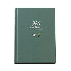 Caderno de plano de ano criativo 365 dias página interna mensal diário planejador diário caderno