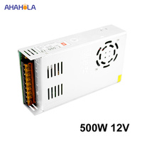 Switching Power Supply 12v 40a 500w Led Power Supply 12v Dc Source Power Supply 12 V Smps Ac 220v to 12v Fonte De Alimentacao