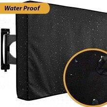 في الهواء الطلق شاشة تلفاز الغبار غطاء مقاوم للماء مجموعة غطاء جودة عالية أكسفورد الأسود التلفزيون التلفزيون 22 إلى 70 بوصة