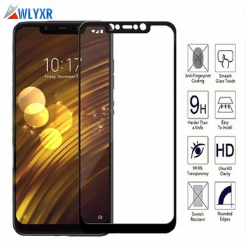 For Tempered Glass Xiaomi Pocophone F1 Screen Protector Full Cover Glass For Xiaomi Pocophone F1 Global Version 2.5D Film Case image