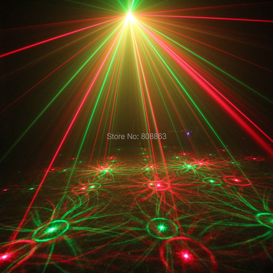 ESHINY Mini 4in1 Pattern Effect R&G Audio Star Whirlwind Laser Projector Stage Disco DJ Club Bar KTV Family Party Light Show P14 3