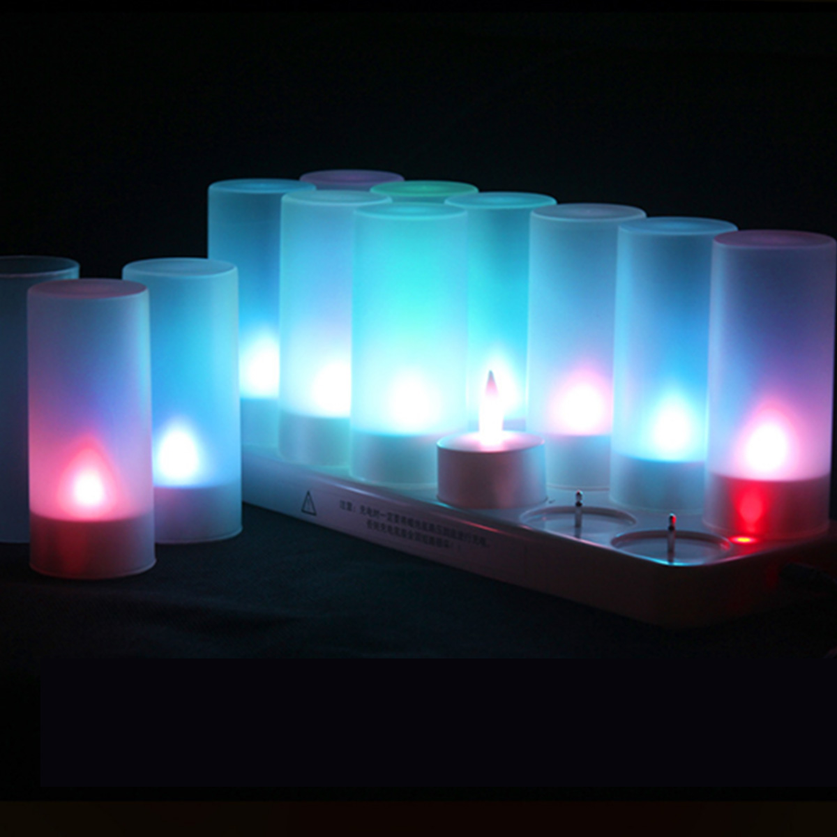 12pcs Set Rechargeable Tea Light Led Candles Frosted Flameless Tealight 7 Multi Color Changing Candle Lamp Holder Party Decor Buy At The Price Of 28 12 In Aliexpress Com Imall Com