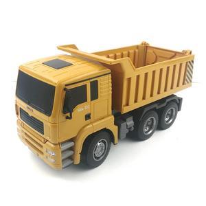 Image 2 - HUINA 332 1:16 Four Wheel Drive RC Dump Truck  Load 1kg children rc  Plastic Truck car toy