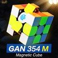 GAN354M 3x3 Cubo de velocidad magnético 3x3x3 Cubo mágico Gan 3*3 Gan354 M 354 M imán profesional Cubo mágico rompecabezas juguetes para niños